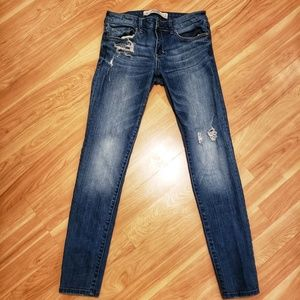 Abercrombie & Fitch Super Skinny Mid Rise Jeans